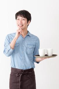 カフェ店員の写真素材 [FYI04700069]