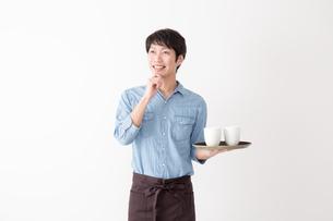カフェ店員の写真素材 [FYI04700072]