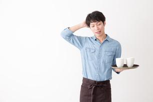 カフェ店員の写真素材 [FYI04700091]