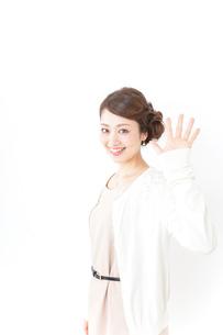 再会する女性の写真素材 [FYI04701460]