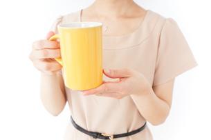 マグカップを持つ女性の写真素材 [FYI04701515]