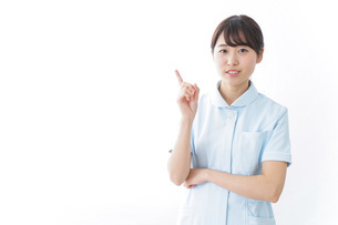 看護師_悩み事_ひらめきの写真素材 [FYI04702316]