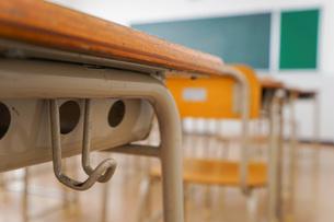 誰もいない学校の教室の写真素材 [FYI04703145]