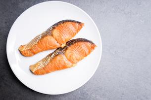 鮭の塩焼きの写真素材 [FYI04703461]