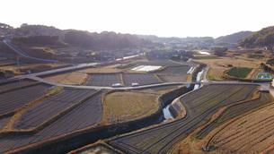 日本の田園風景ドローン撮影・淡路島の写真素材 [FYI04703605]