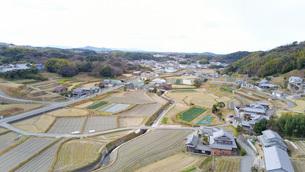 日本の田舎風景・ドローン撮影の写真素材 [FYI04703628]