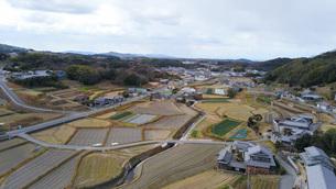 日本の田舎風景・ドローン撮影の写真素材 [FYI04703629]