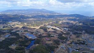 日本の田舎風景・ドローン撮影の写真素材 [FYI04703633]