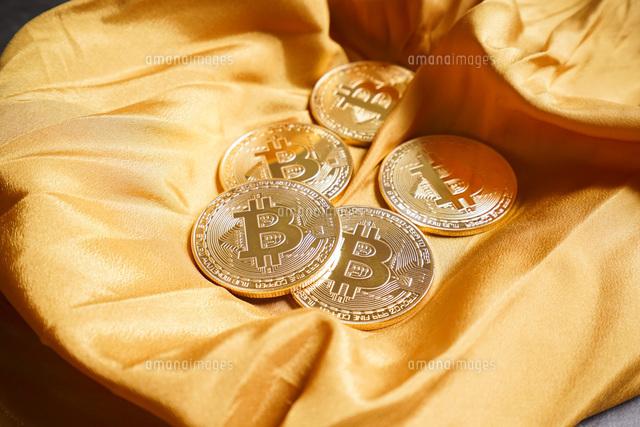 仮想通貨・ビットコインイメージの写真素材 [FYI04703685]