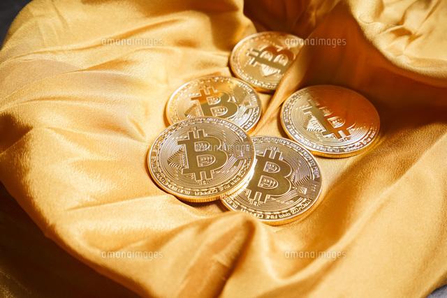 仮想通貨・ビットコインイメージの写真素材 [FYI04703696]