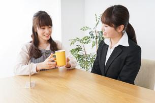 カフェで働く女性の写真素材 [FYI04704002]