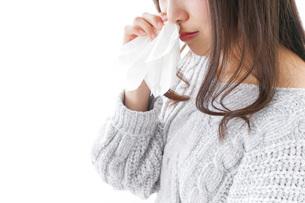 鼻血が出た女性の写真素材 [FYI04704038]