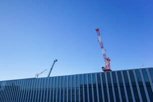 タワークレーン・建設ラッシュの写真素材 [FYI04704073]