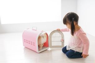 ペットの世話をする子どもの写真素材 [FYI04704803]
