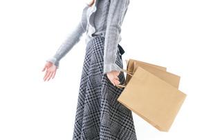 ショッピングをする女性の写真素材 [FYI04704882]