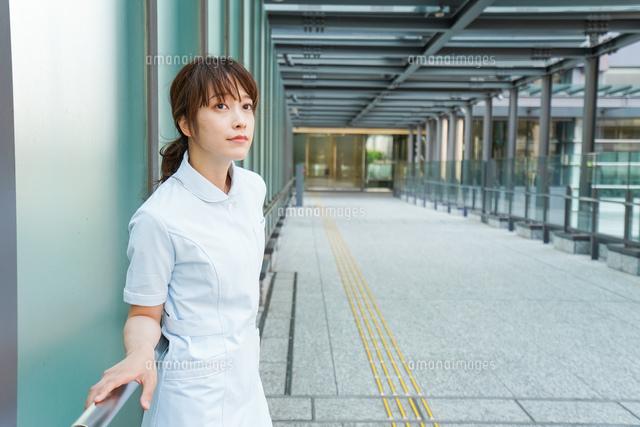 病棟を歩く看護師の写真素材 [FYI04705678]