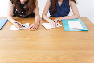 勉強する2人の女性の写真素材 [FYI04705869]