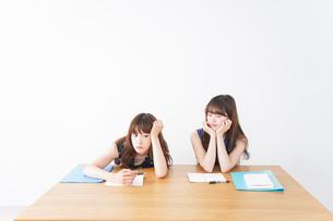 授業に退屈している学生の写真素材 [FYI04705932]