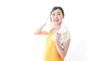 入浴後の女性の写真素材 [FYI04706216]