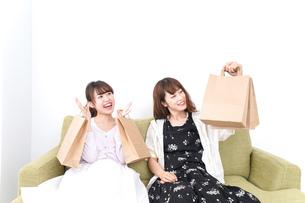 ショッピングをする女性の写真素材 [FYI04707091]