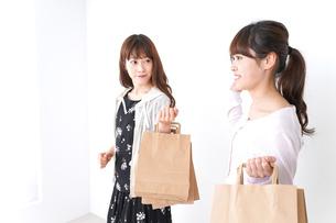 ショッピングをする女性の写真素材 [FYI04707129]