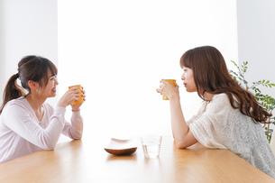 女子会をする若い2人の写真素材 [FYI04707199]