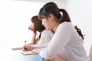 勉強する学生の写真素材 [FYI04707243]