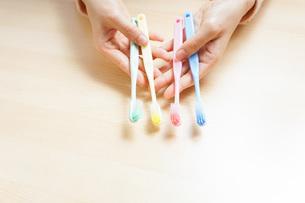 歯磨きイメージの写真素材 [FYI04708295]