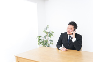 電話するビジネスパーソンの写真素材 [FYI04708781]