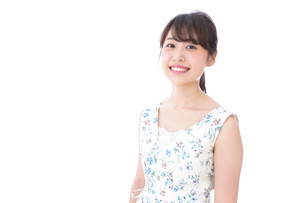 笑顔の若い美人女性の写真素材 [FYI04709012]