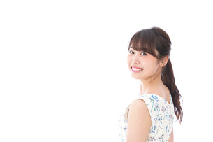 Beautiful young woman with smileの写真素材 [FYI04709045]