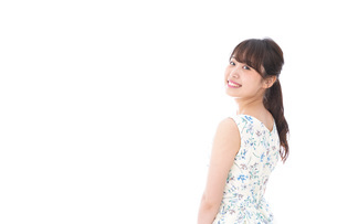 Beautiful young woman with smileの写真素材 [FYI04709059]