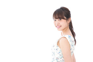 Beautiful young woman with smileの写真素材 [FYI04709062]