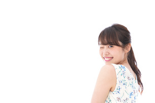 Beautiful young woman with smileの写真素材 [FYI04709064]