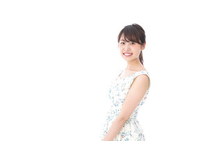 Beautiful young woman with smileの写真素材 [FYI04709071]