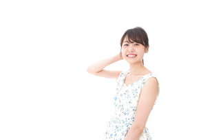 Beautiful young woman with smileの写真素材 [FYI04709099]