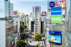 渋谷のスクランブル交差点の写真素材 [FYI04709357]