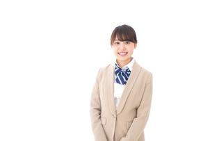 制服を着た笑顔の学生の写真素材 [FYI04709414]