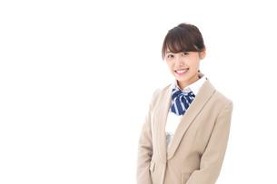 制服を着た笑顔の学生の写真素材 [FYI04709423]