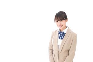 制服を着た笑顔の学生の写真素材 [FYI04709430]