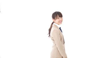 制服を着た笑顔の学生の写真素材 [FYI04709440]