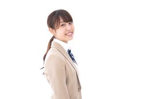 制服を着た笑顔の学生の写真素材 [FYI04709443]