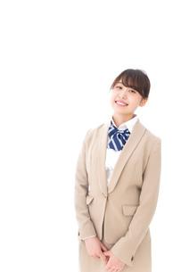 制服を着た笑顔の学生の写真素材 [FYI04709450]
