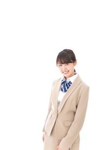 制服を着た笑顔の学生の写真素材 [FYI04709454]