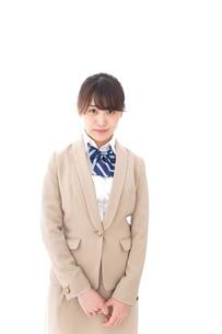 制服を着た笑顔の学生の写真素材 [FYI04709455]