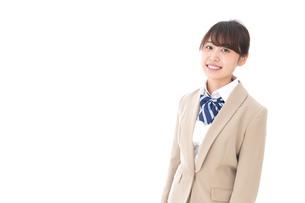 制服を着た笑顔の学生の写真素材 [FYI04709462]
