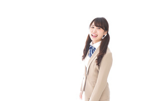 笑顔の中学生・高校生の写真素材 [FYI04709521]