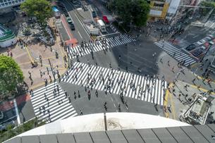 渋谷のスクランブル交差点の写真素材 [FYI04709630]