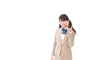 Young woman pointingの写真素材 [FYI04711267]