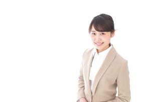 笑顔のビジネスウーマン・おもてなしの写真素材 [FYI04711582]